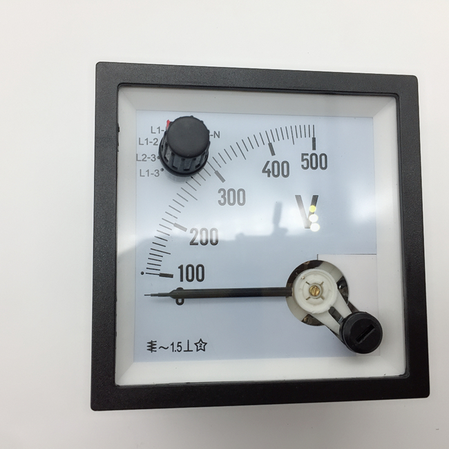 AC ammeter voltmeter with switch